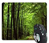 ILJILU Deep in The Forest Thick Green Vegetation Tree Nature Mouse Pad Mat