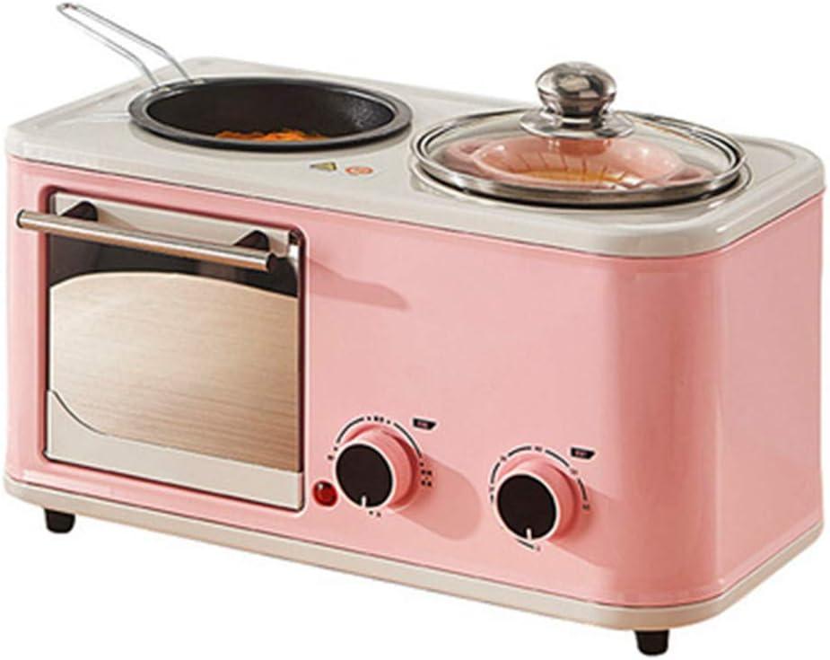 YYEWA Electric 3 in 1 Household Breakfast Machine Mini Bread Toaster Baking Oven Omelette Fry pan hot Pot Boiler Food Steamer