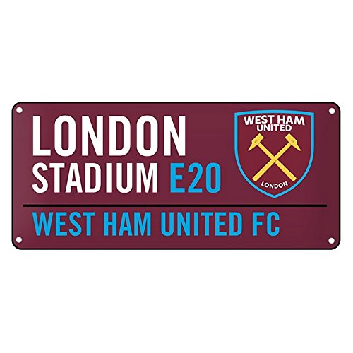West Ham United FC Official Metal Street Sign (One Size) (Claret)