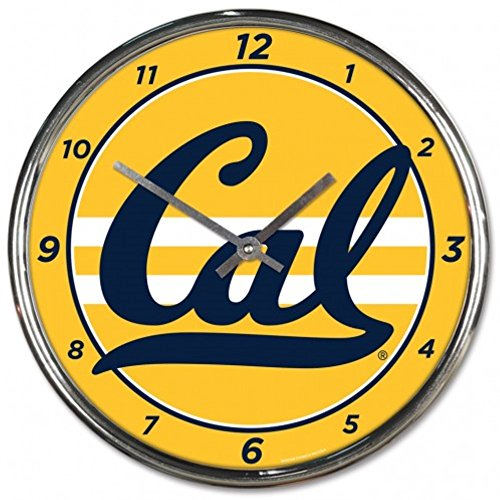 Bears Ncaa Wall Clock - NCAA California Golden Bears WinCraft Official Chrome Clock
