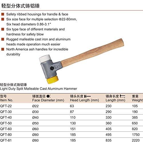 Suyep Light Duty Split Malleable Cast Aluminum Hammer (QFT-22)