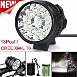 Tuscom@ 32000LM 13 x CREE XM-L T6 LED 6 x 18650 Bicycle Cycling Light Waterproof Lamp For Sale