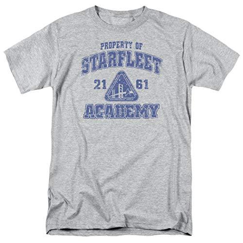 Popfunk Star Trek Distressed Starfleet Academy T Shirt (Medium) Athletic Heather