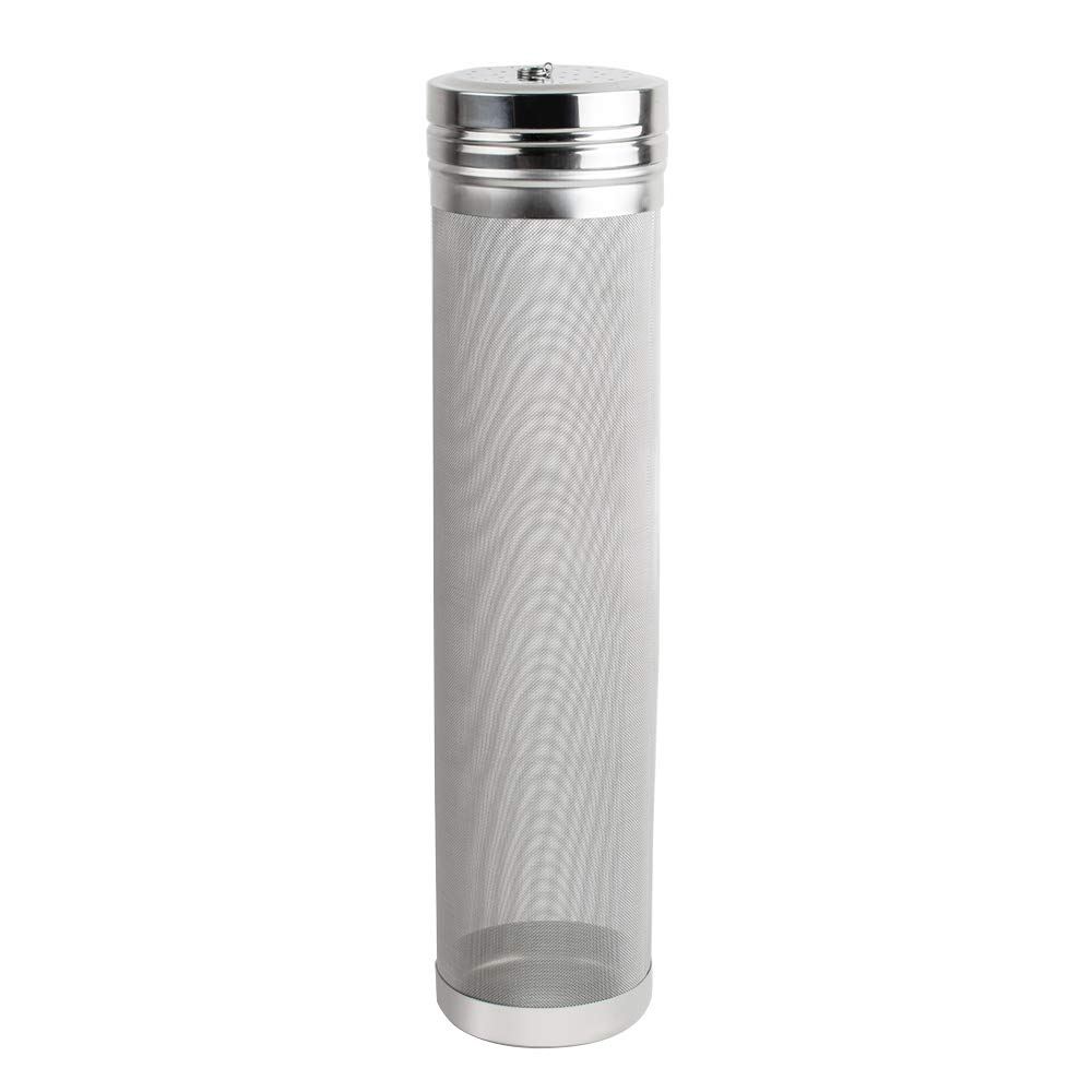 Beer Filter Kit Finlon 11.42.7Inch Beer Filter Tube 300μm Filtration Accuracy Stainless Steel Beer Filter Cartridge