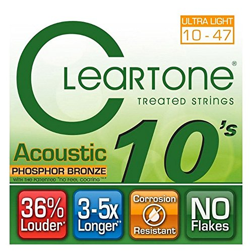 Cleartone Acoustic.010-.047 Ultra Light Strings