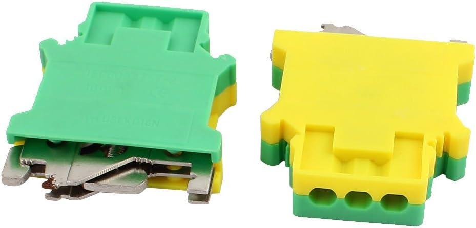 5pcs sourcing map Los bloques de terminales del riel e//uk terminan el soporte del tap/ón para el carril de 35 mm
