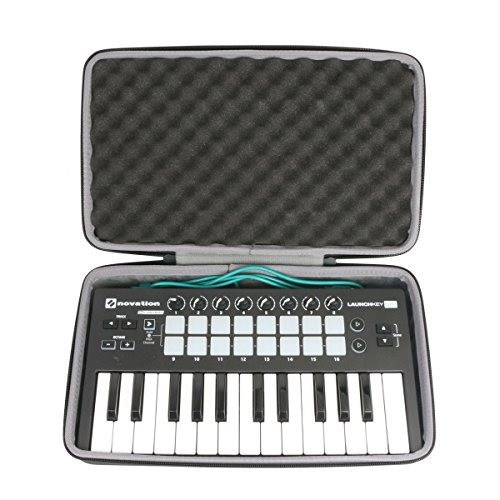 Cheap Hard Travel Case for Novation LAUNCHKEY MINI MK2 25 Key USB Keyboard Controller by co2CREA