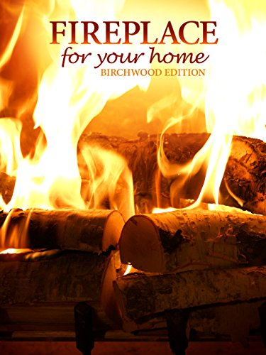 Fireplace 4K : Crackling Birchwood from Fireplace for your Home