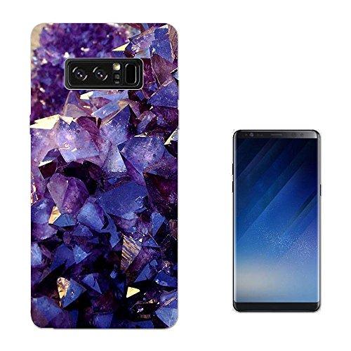 c00812 - Crystal Gems Amethyst SAMSUNG Galaxy NOTE 8 CASE Gel Silicone All Edges Protection Case (Amethyst Bell)