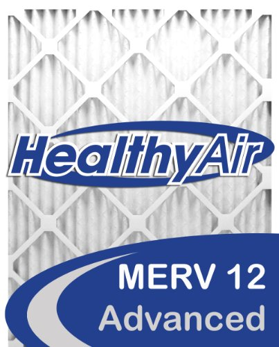 Cheap Healthy Air 20x25x4 MERV 12 Pleated Furnace Air Filter, Box of 2 for sale