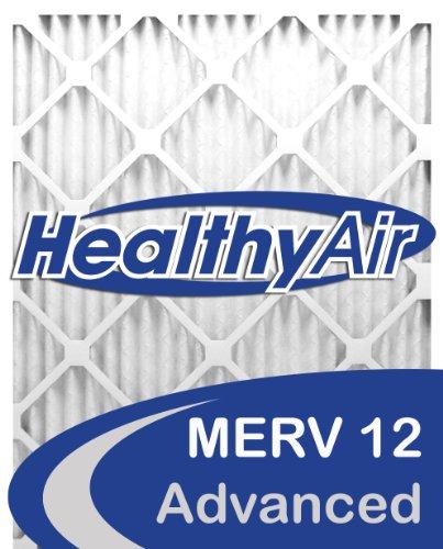 Healthy Air 16x25x4 MERV 12 Pleated Furnace Air Filter, Box of 2