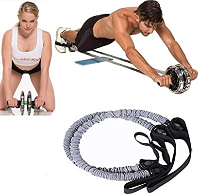 Fitness Resistance Band Rope Tube Stretch Train Elastic Exercise Yoga Workout GW