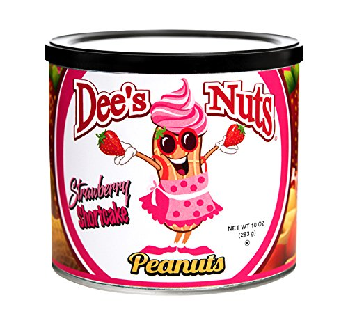 Dee's Nuts Strawberry Shortcake Flavored Gourmet Peanuts (10 oz)