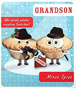 Mince pie eyes christmas cards