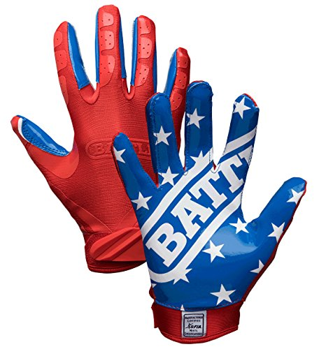 Battle All American Youth Football Gloves, Small
