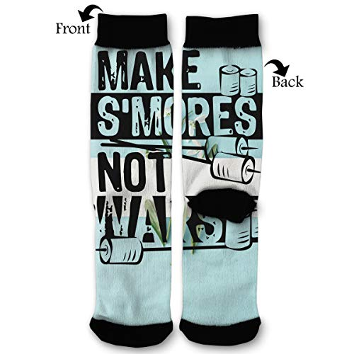 S'mores Not Wars Unisex Printing Seafarer Socks Deluxe Personality Short Sock 40CM