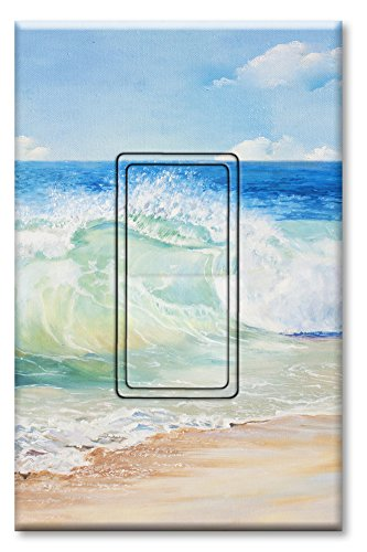 Decora Switch Style (Printed Decora Rocker Style Switch with matching Wall Plate - Beach Painting)