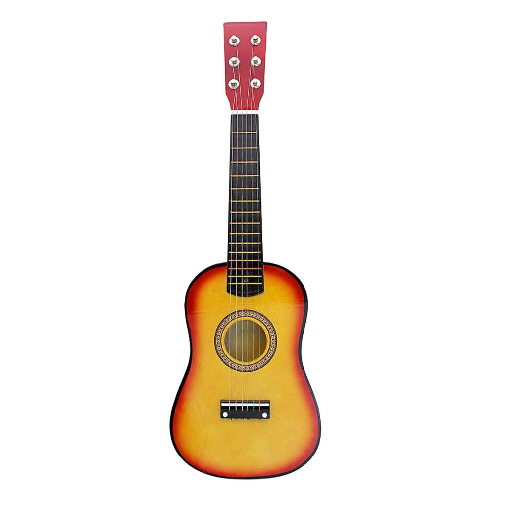 Homyl Adults Kids Wooden 6 String Acoustic Guitar Musical Instrument Toy Xmas Gift - Sunset