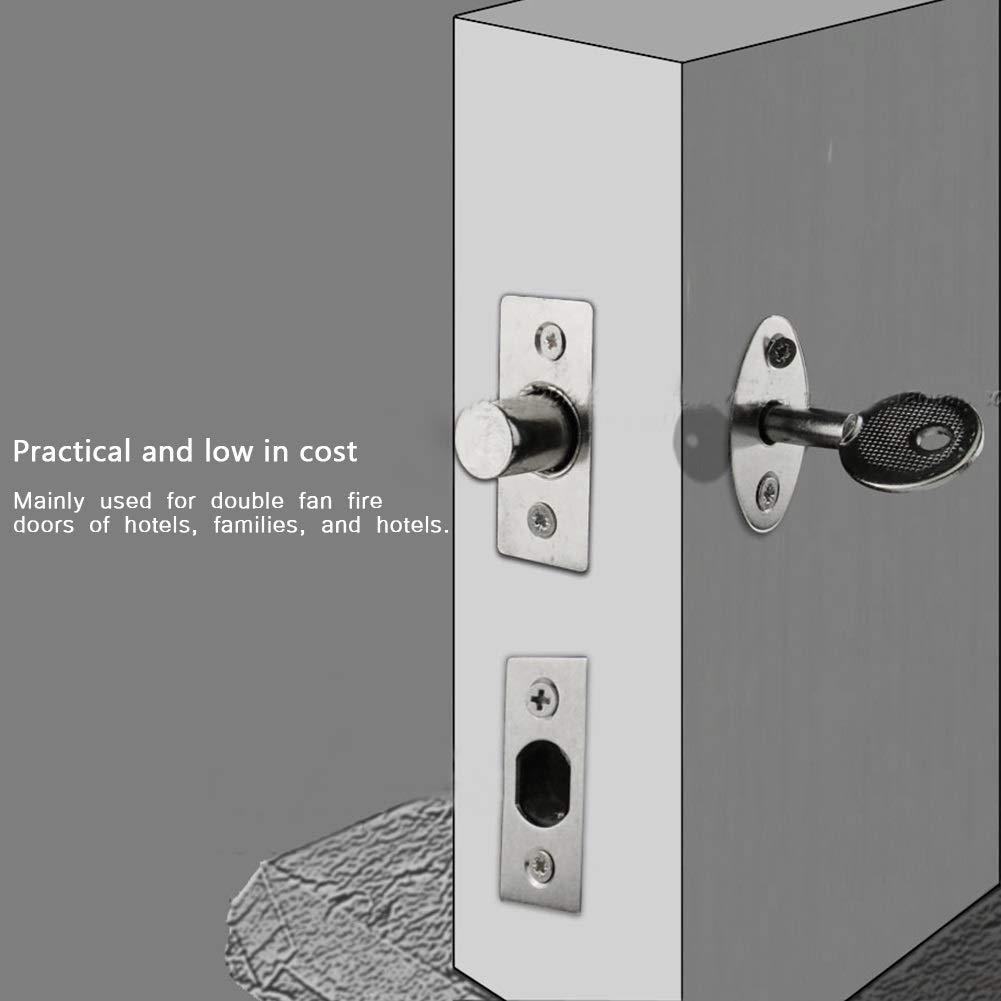 serrure invisible de tube de tuyau de mat/ériel dacier inoxydable de MAGT for lall/ée de porte coupe-feu Serrure de puits