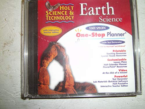 One-Stop Planner CD-ROM for Holt Earth Science (With Interactive Teacher Edition and Test Generator) (Test Generator)