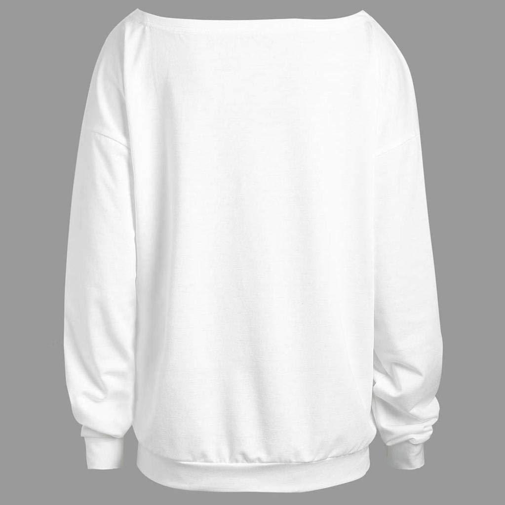 iMakcc Halloween Women Sweatshirt Long Sleeve Cute Print Pullover Tops Casual Blouse