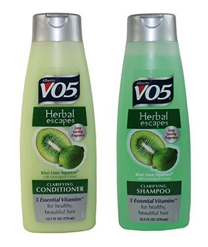 Vo5 Herbal Shampoo (Alberto VO5 Herbal Escapes Kiwi Lime Squeeze Shampoo and Conditioner 12.5 fl. oz.)