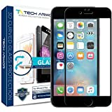 iPhone 6 Plus Screen Protector, Tech Armor 3D Curved Edge Glass Apple iPhone 6S / iPhone 6 Plus (5.5-inch) Screen Protector (Blk) [1-Pack]