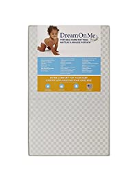 Dream On Me 3 Portable Non-full size crib mattress, White Vinyl BOBEBE Online Baby Store From New York to Miami and Los Angeles