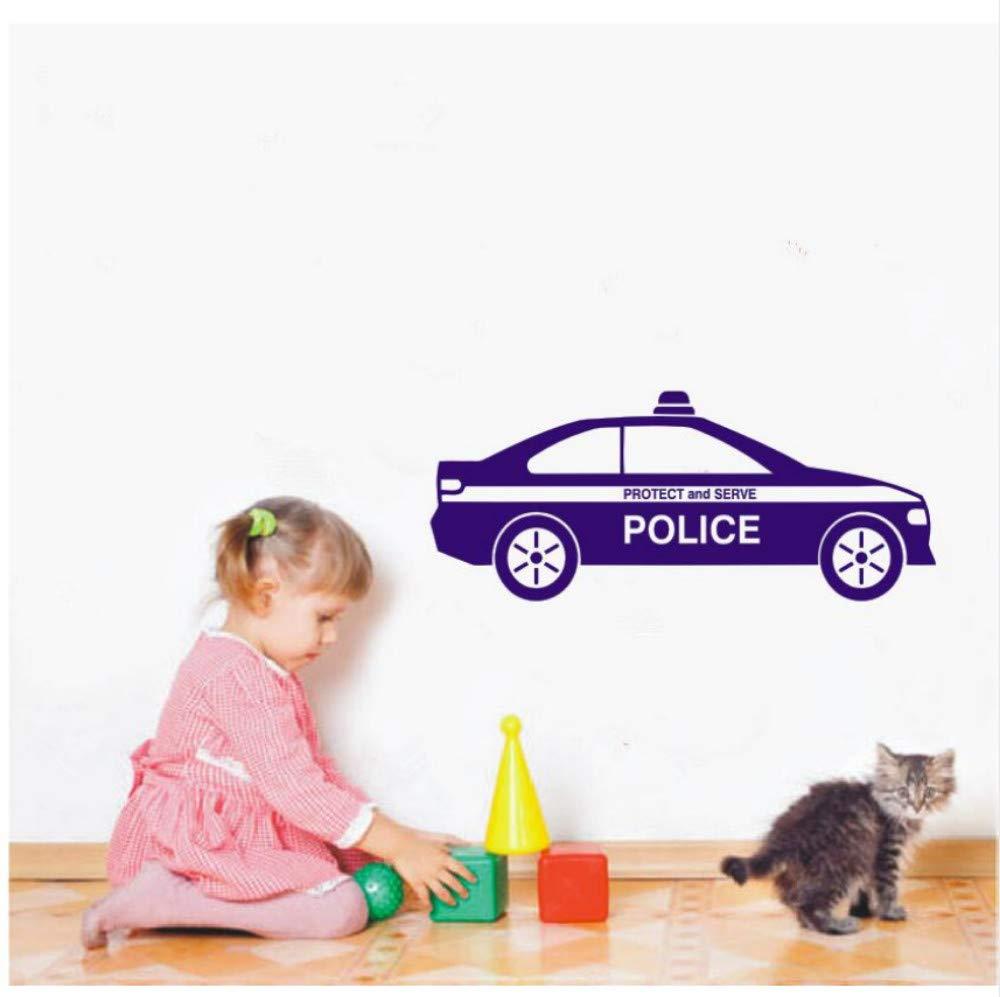 Tatuajes de pared de vinilo pegatinas coche policía proteger y ...