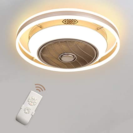 Ventilador de techo invisible LED Lámpara Techo de iones ...