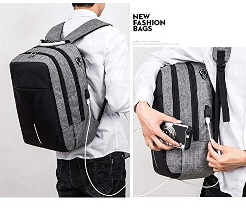 HIGHBORN Children school bags for teenagers boys girls big capacity school backpack waterproof satchel kids book bag (GREY)