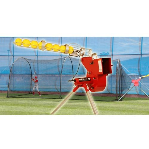 Heater Sports Combo Pitching Machine And Xtender 24' Batting Cage