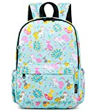 Abshoo Little Kids Unicorn Toddler Backpacks for Girls Preschool Backpack With Chest Strap (Unicorn Light Blue)