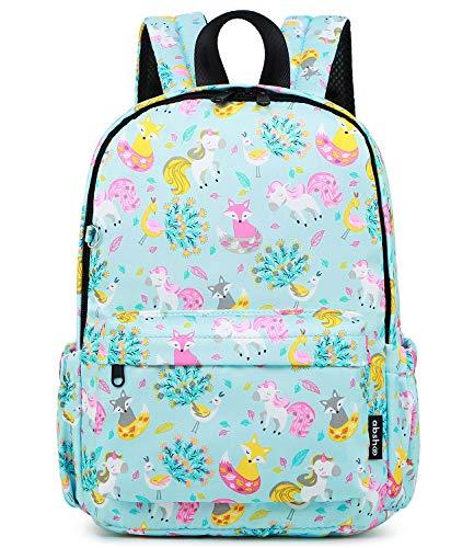 Abshoo Little Kids Unicorn Toddler Backpacks for Girls Preschool Backpack With Chest Strap (Unicorn Light Blue)
