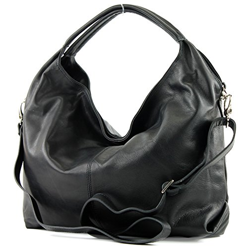 Italian handbag women's bag shoulder bag leather bag nappa leather T61 Black