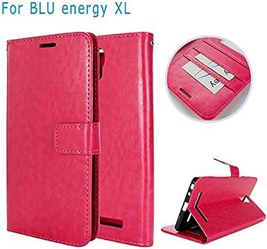 BLU Energy XL - Funda de Piel + TPU con Bolsillos para Tarjetas de ...