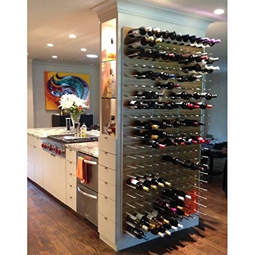 Stact Wall Mounted Wine Rack in Zebrano by STACT