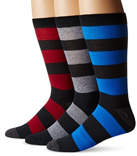 K. Bell Socks Men's Big-Tall Rugby Crew 3 Pack, black, 10 to13 Big And Tall Rugby