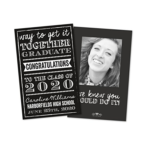 Black and White Personalized Graduation -