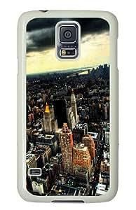 Samsung Galaxy S5 Case Cover - Nyc Silicone Rubber Case Back Cover for Samsung Galaxy S5 - PC White