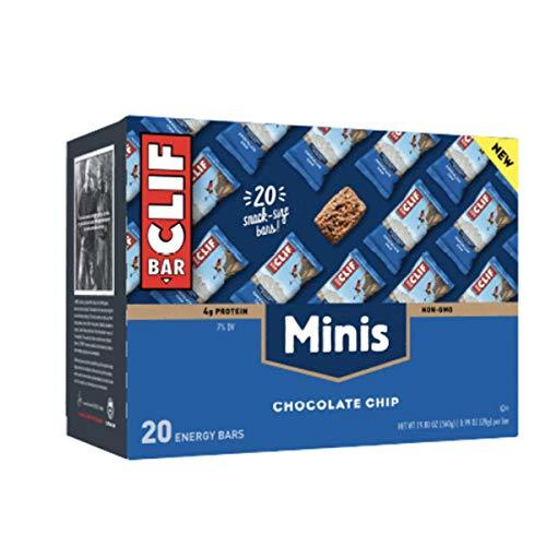 CLIF BAR - Mini Energy Bar - Chocolate Chip - (0.99 Ounce Snack Bar, 20 Count)