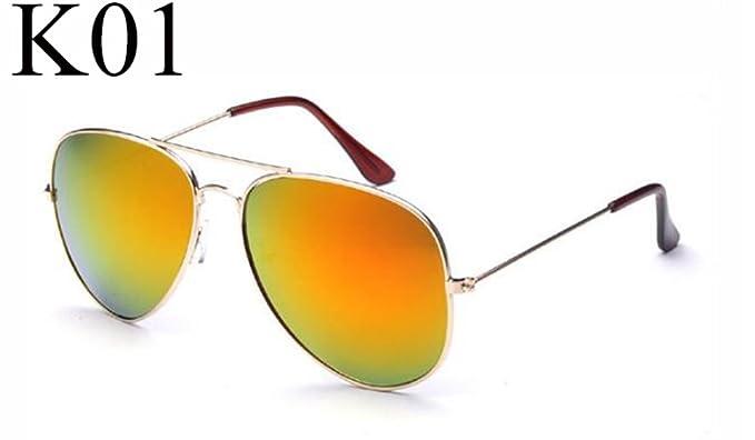 OMAS New Fashion Aviator pilote lunettes de soleil femmes Vintage lunettes cadre pilote lunettes de soleil hommes dames lunettes Golden Frame Ice Blue Mercury z5AEUbw