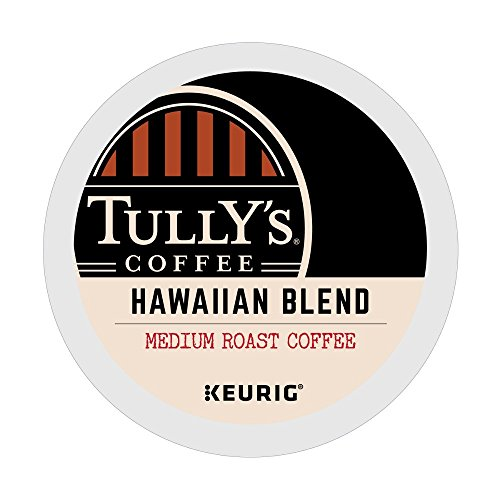 Tully's Coffee Hawaiian Blend Keurig Single-Serve K-Cup Pods, Medium Roast Coffee, 72 Count (6 Boxes of 12 Pods)