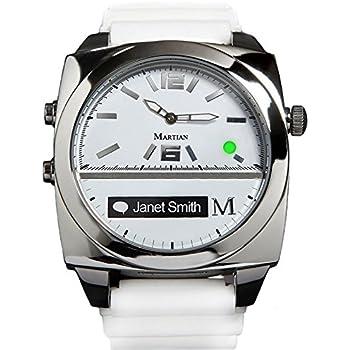 amazon com martian watches notifier smartwatch white cell phones
