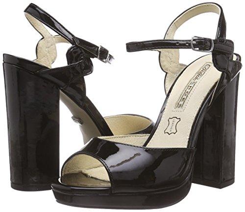 black Nero Donna 315 Buffalo nero London 01 4677 Con Platea Patent Sandali Pu Pzw8pwx