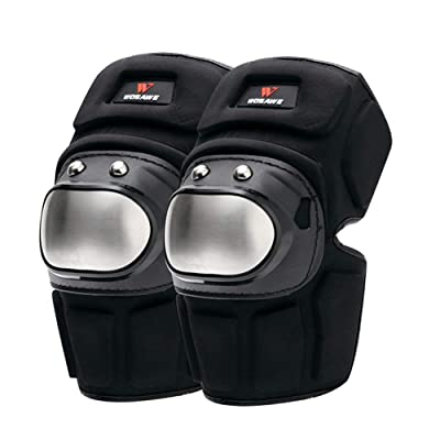 Knee Pads Protector Motorcycle, MLSice Stainless Steel Knee Protector Protection Guard Body Armor for Mountain Bike, Skateboarding, Skating, Snowboarding, Scooter: Electronics