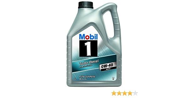 Mobil 1 151041 Turbo Diesel - Aceite sintético de motor turbodiesel (0W-40, 5 l): Amazon.es: Coche y moto