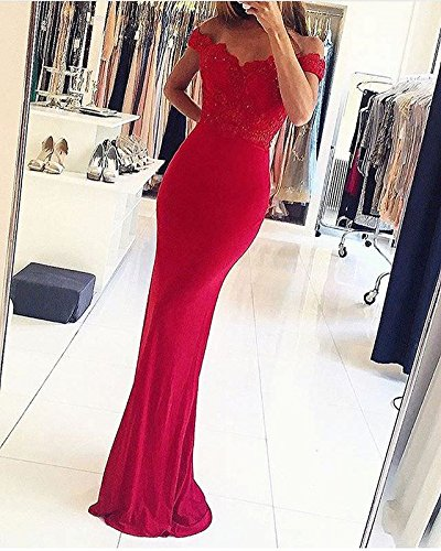 Wine dentelle dos bal demoiselle d'honneur Style12 en Red dos sirne Robe dentelle de robe en de nu Sweetheart q46aa0