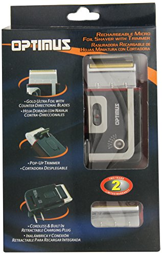 Optimus 50015 Rechargeable Pocket Palm Shaver, Black