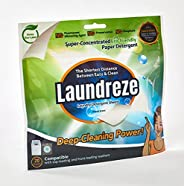 LAUNDREZE Biodegradable Laundry Detergent Sheet | No Harmful Chemicals Added Plastic-Free| Earth-Friendly Nano